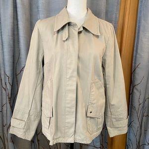 J. Crew M 100% cotton button down safari jacket